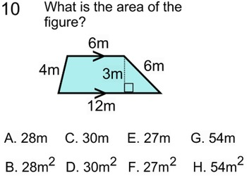 Perimeter Area & Volume 7 Assignments & 2 Printable References for SMART