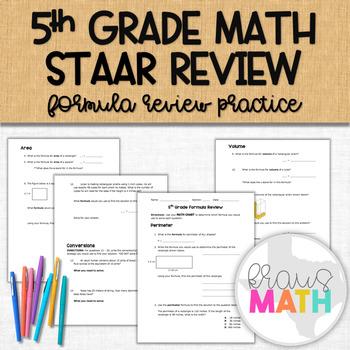 Grade 5 Math STAAR Measurement Formula STAAR Review!