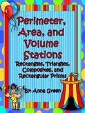 Perimeter, Area, Volume Stations - Math Centers