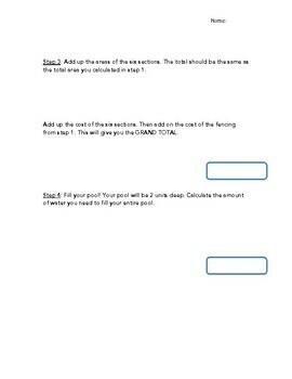 Perimeter, Area, Volume, and Decimal Calculations: Park Design Project
