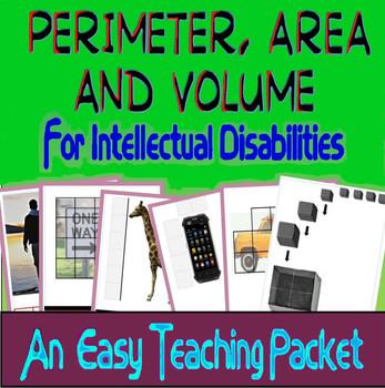 Perimeter, Area & Volume 4 Intellectual Disabilities, Autism & Special Education