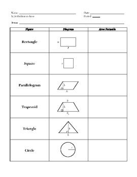 Perimeter, Area, Volume of Geometric Figures