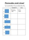 Perimeter & Area Worksheet