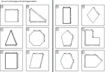 Perimeter & Area Worksheets.