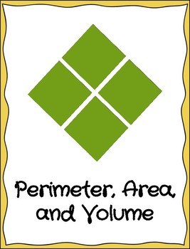 Perimeter, Area, and Volume Blank Template