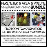 Perimeter & Area and Volume Construction Zone Bundle {Classroom Transformations}