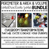 Perimeter & Area and Volume Construction Zone Bundle {Classroom Transformations}