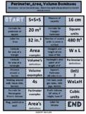 Perimeter, Area, and Volume Domino Game