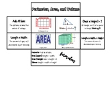 Perimeter, Area, and Volume Interactive Notes (foldable)