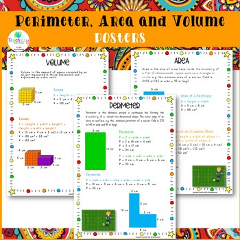 Perimeter, Area  and Volume  Posters
