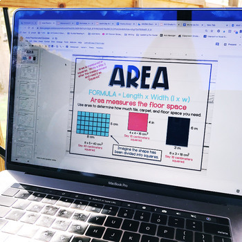 Perimeter, Area, and Volume Worksheets, Anchor Charts, and Assessments