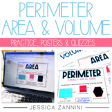 Perimeter, Area, and Volume Worksheets, Anchor Charts, and