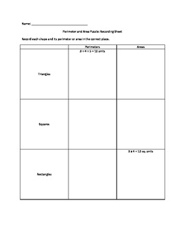 Perimeter, Area and Volume Puzzles (Grid Match)