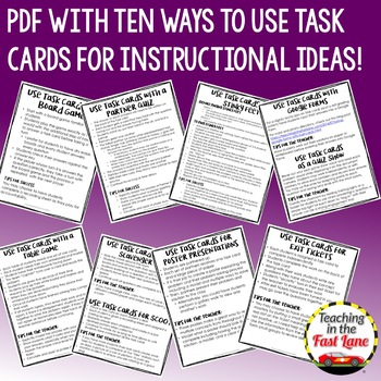 Perimeter, Area, and Volume Task Cards