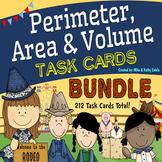 Perimeter, Area, and Volume Task Cards BUNDLE