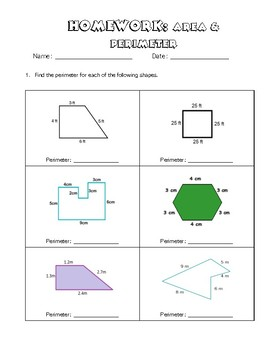 Perimeter & Area homework review