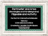 Perimeter & Area of Rectangles & Parallelograms Flippable & Activity (foldable)