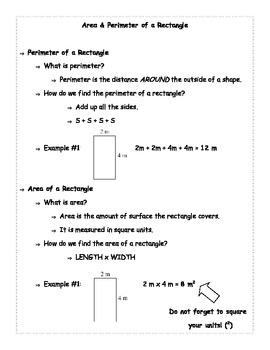 Perimeter & Area of a Rectangle