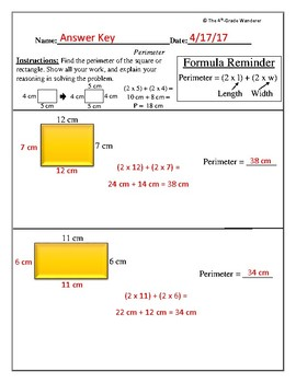 Perimeter Assessment (Exit Ticket)
