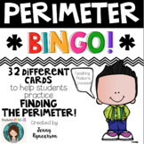 Perimeter BINGO! 32 Different Cards PLUS Instructional Posters!