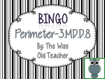 Perimeter Bingo Game PPT with Blank Bingo Cards 3.MD.D.8