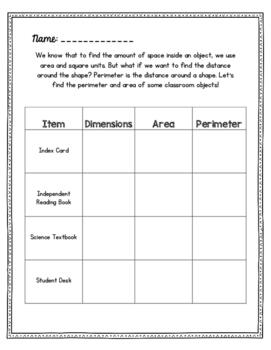Perimeter Checklist