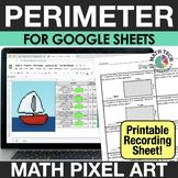 Perimeter - Digital Math Mystery Picture - 3rd Grade Dista