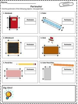 Common Core Perimeter using Paperclips