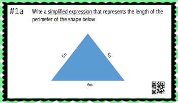 Perimeter Expressions (30 Task Cards – 3 different levels!)
