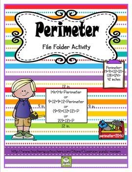 Perimeter File Folder Activity (CC Aligned)