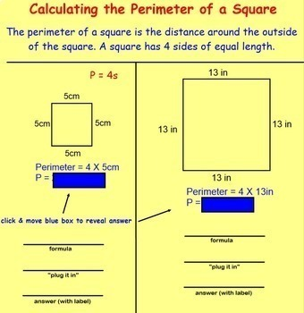 Perimeter Formulas Square Rectangle Triangle Compound Shapes Missing Measure