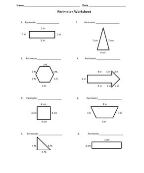worksheet: 6th Grade Area And Perimeter Worksheets Volume Surface ...