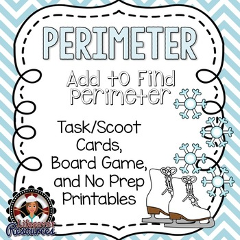 Perimeter Game and Printables - Add to Find Perimeter
