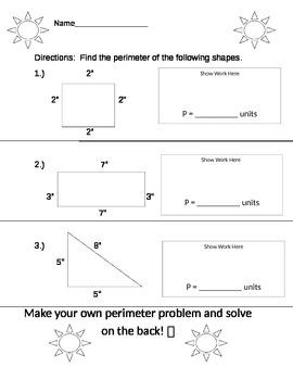 Perimeter Homework
