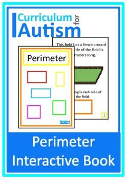Calculating Perimeter Book Autism Special Education (Metric)