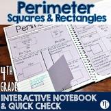 Perimeter Interactive Notebook Activity & Quick Check TEKS 4.5D