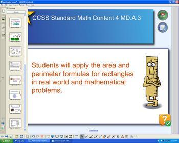 Perimeter Interactive Whiteboard Lessons: Common Core