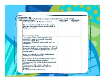 Perimeter Lesson Plan - Math Problem