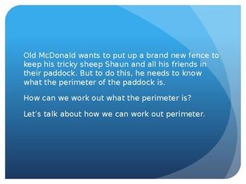 Perimeter Lesson Presentation - On the Farm