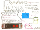 "Perimeter Math Doodle KEY"""