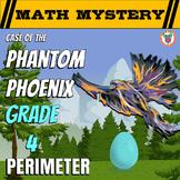 4th Grade Perimeter Review Math Mystery - Case of The Phantom Phoenix