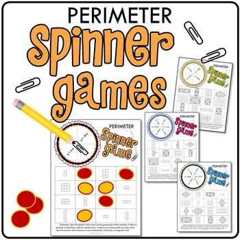 Perimeter Printable Math Spinner Games