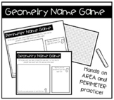 Geometry Name Game Activity: Area and Perimeter