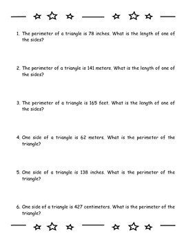 Perimeter PI - Using Clues to Find A Shape's Perimeter or Side Length