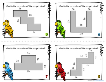 Perimeter Parrots {A Themed Task Card Product}