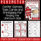 Perimeter Penny - Finding the Unknown Side Center Game, Task Cards, & Printables