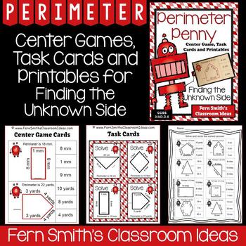 Perimeter Task Cards and Printables