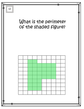 All about Perimeters:  using square units