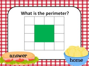 Perimeter Picnic PPT Game: 3.MD.8