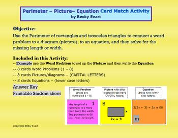 Perimeter - Picture - Equation Match
